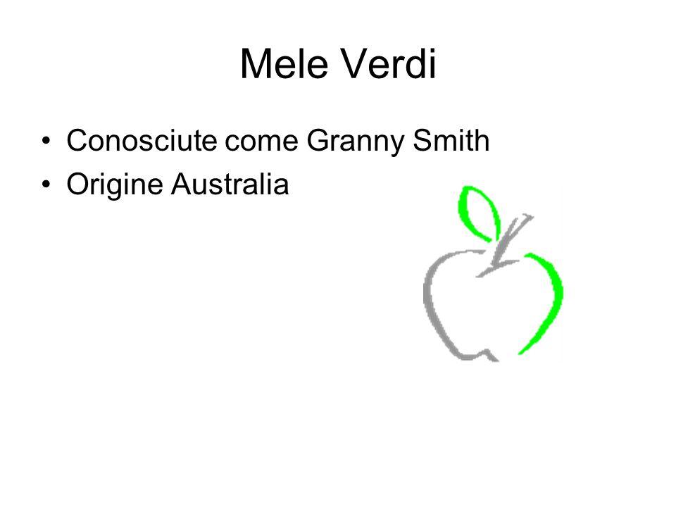 Mele Verdi Conosciute come Granny Smith Origine Australia