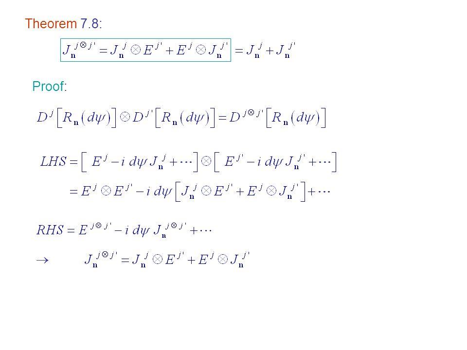 Proof:  Theorem 7.8: