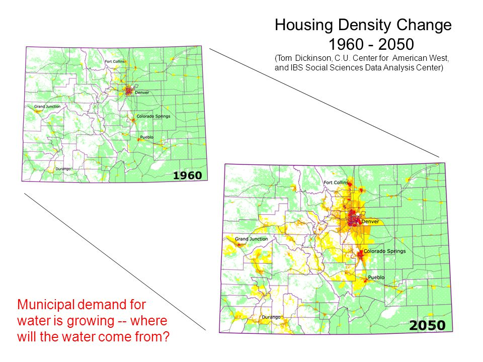 Housing Density Change 1960 - 2050 (Tom Dickinson, C.U.