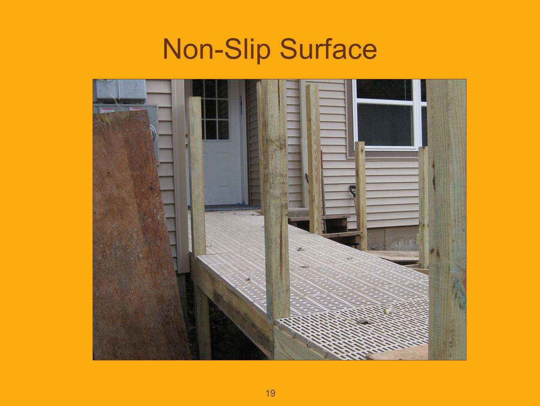 19 Non-Slip Surface