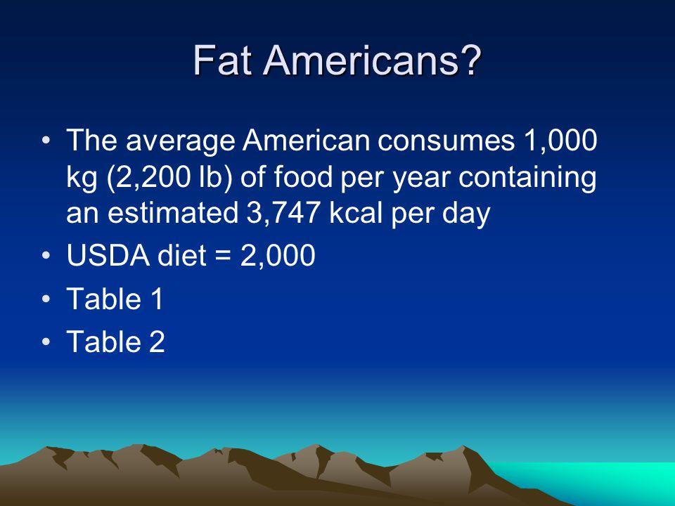 Fat Americans.