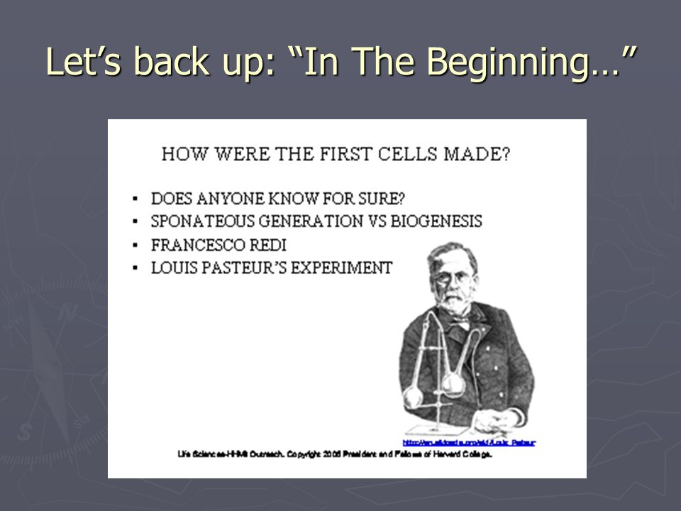 Let's back up: In The Beginning…