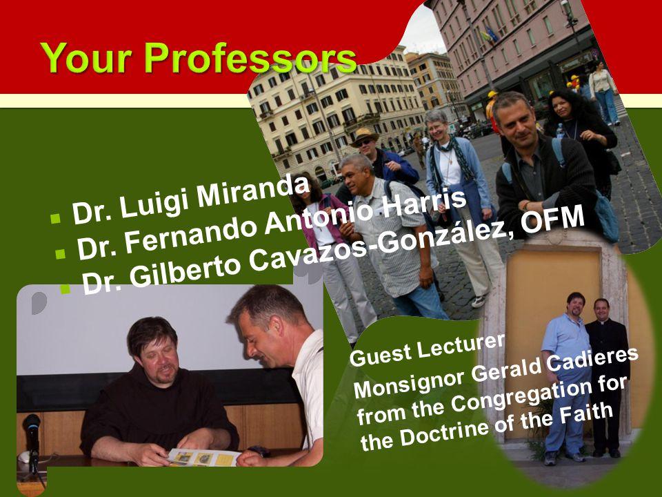  Dr. Luigi Miranda  Dr. Fernando Antonio Harris  Dr.
