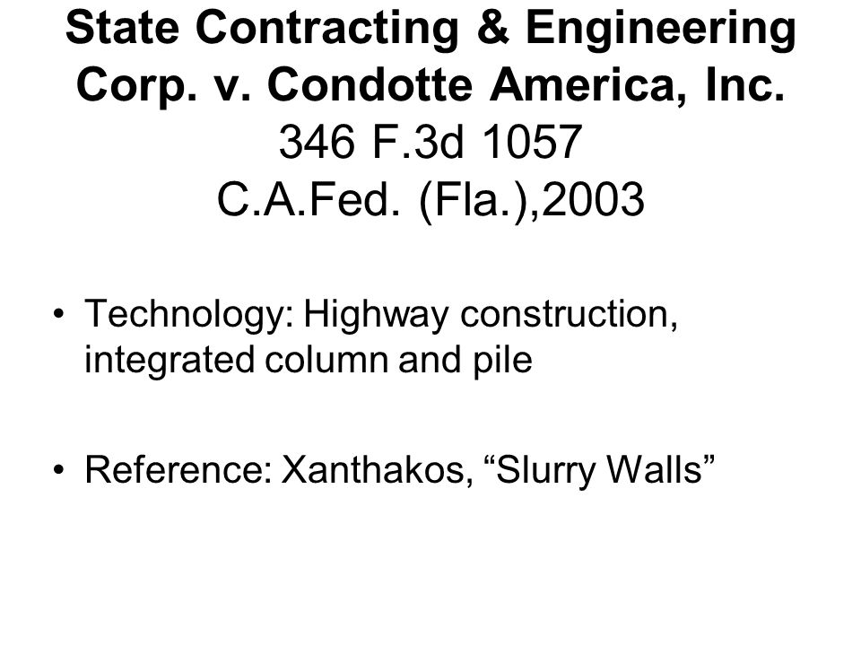 State Contracting & Engineering Corp. v. Condotte America, Inc.