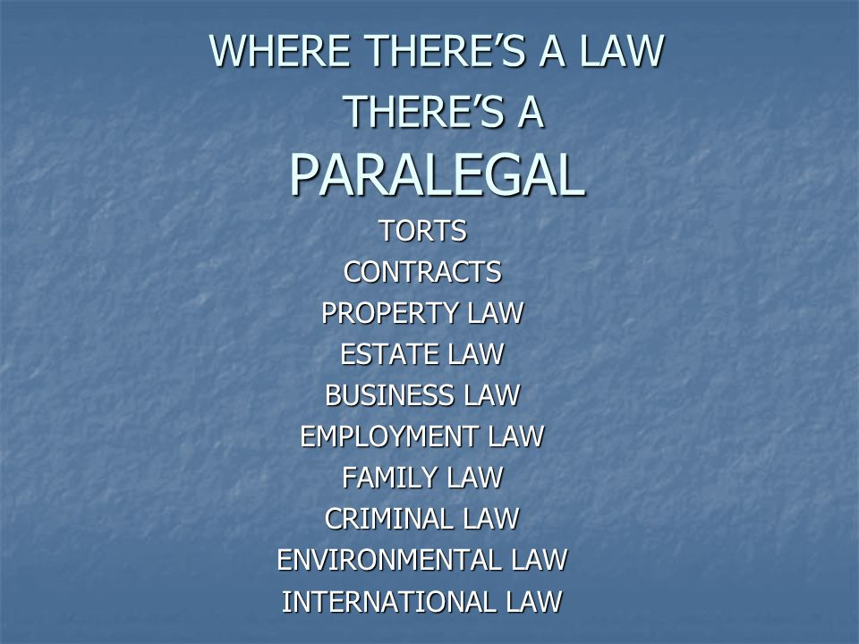 There are so many new law practices everyday…laws will always exist and there will always be and a need for lawyers and paralegals.