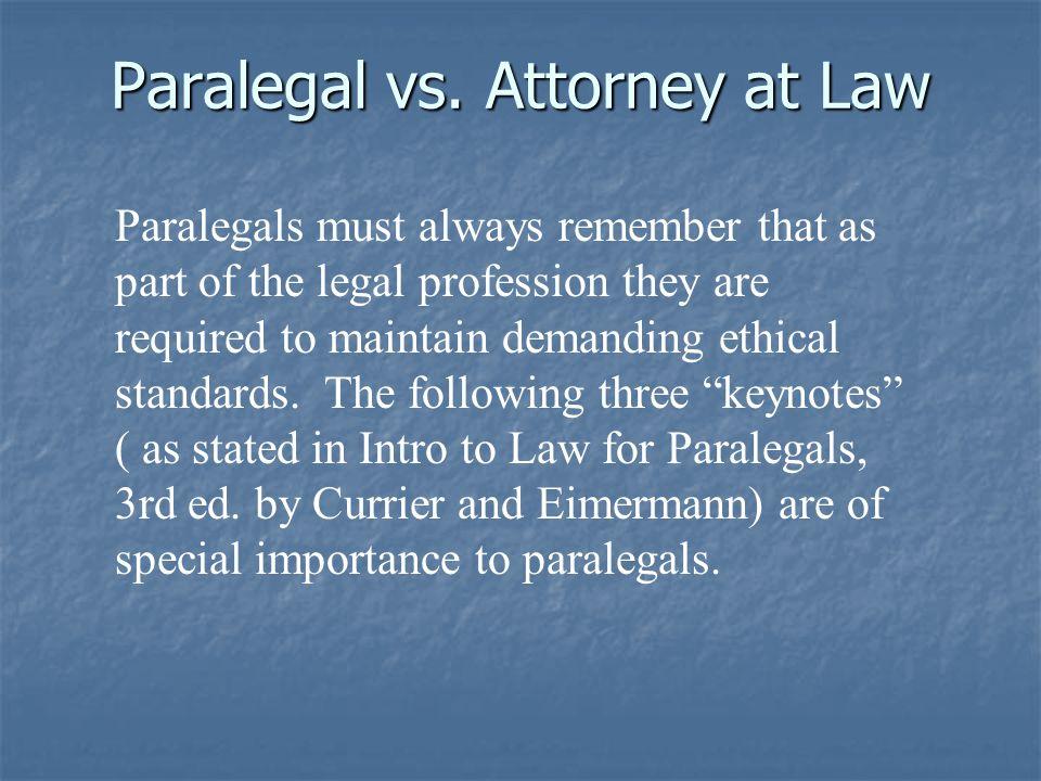 Paralegal vs.