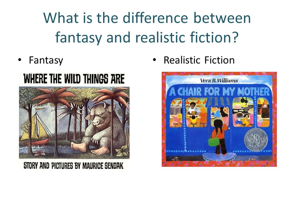 What is the difference between fantasy and realistic fiction? Fantasy Realistic Fiction