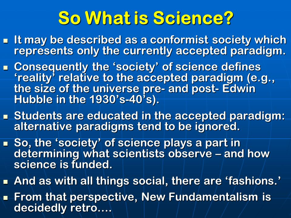 So What is Science.