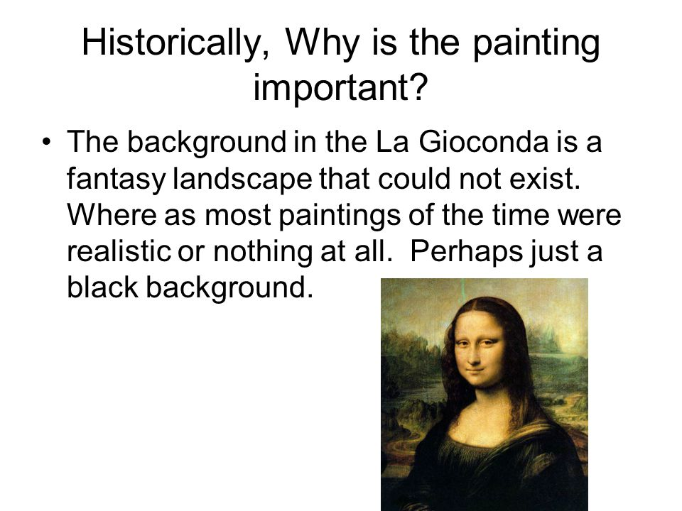 Historically, Why is the painting important.