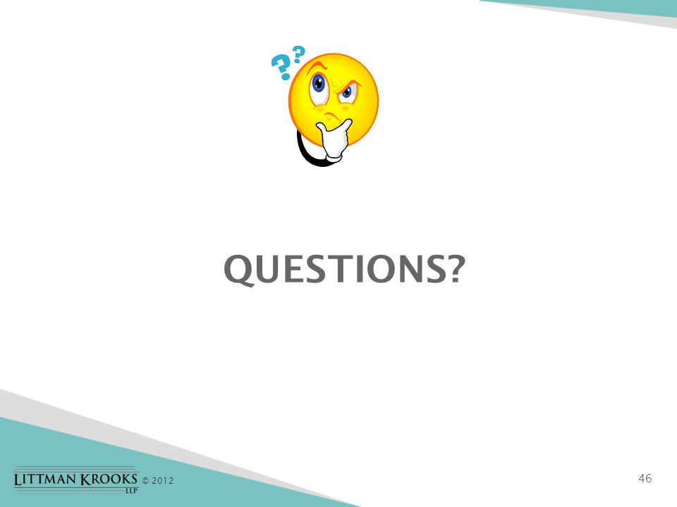 © 2012 QUESTIONS 46