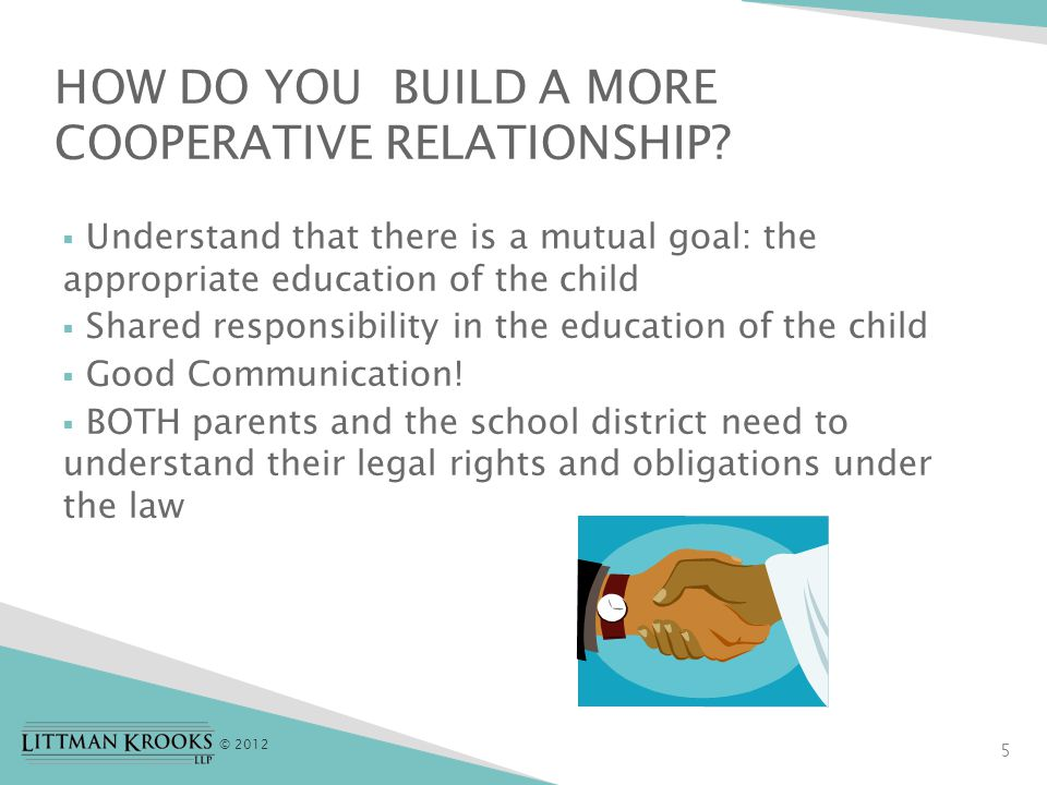 © 2012 6 You may have a relationship with your school district for up to 21 years….