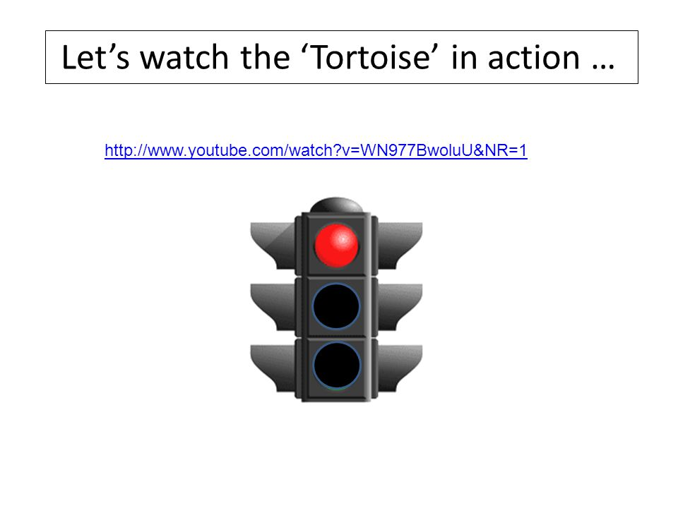 http://www.youtube.com/watch?v=WN977BwoluU&NR=1 Let's watch the 'Tortoise' in action …