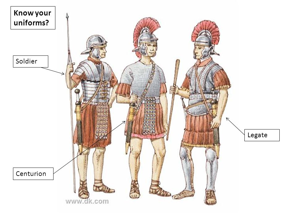 Legion made up of around– 4800 men Divided into 10 cohorts Or around 480 men in each section One cohort was made up of six centuries 80 Each Century had 80 men