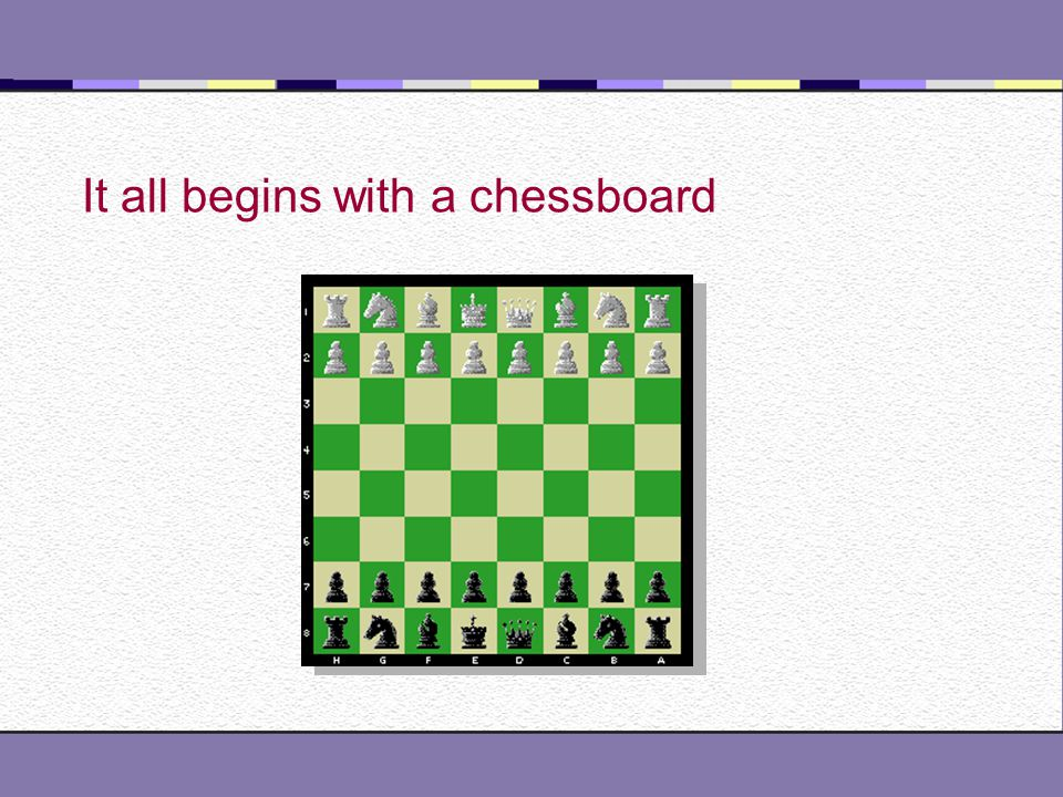 It all begins with a chessboard