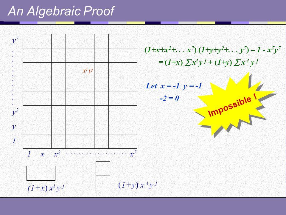 An Algebraic Proof 1 x x 2.......................