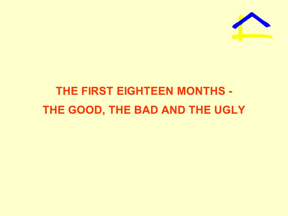 THE FIRST EIGHTEEN MONTHS - THE GOOD, THE BAD AND THE UGLY