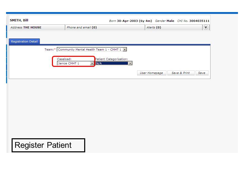 Register Patient
