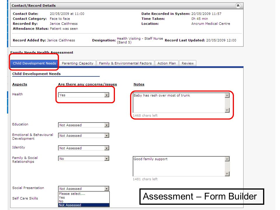 Assessment – Form Builder