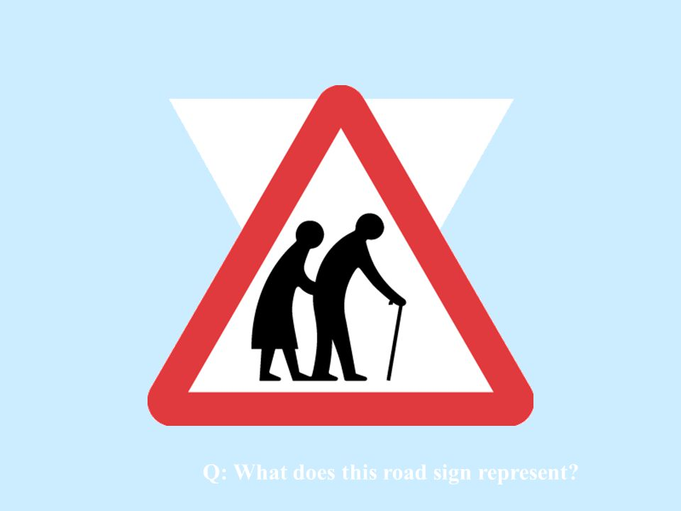 Q: What does this road sign represent