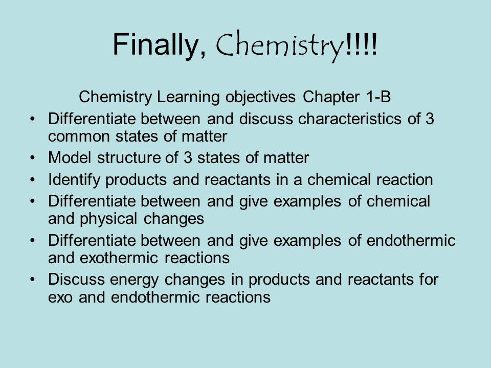 Finally, Chemistry!!!.