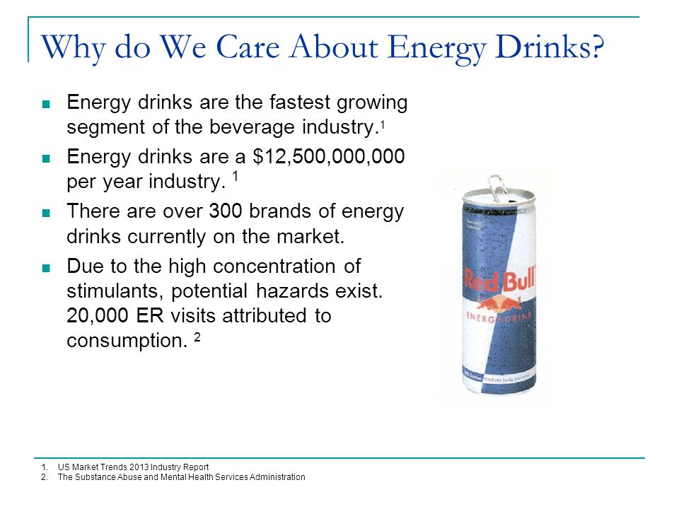 FDA Regulations for Energy Drinks Energy drinks and shots are regulated as dietary supplements.