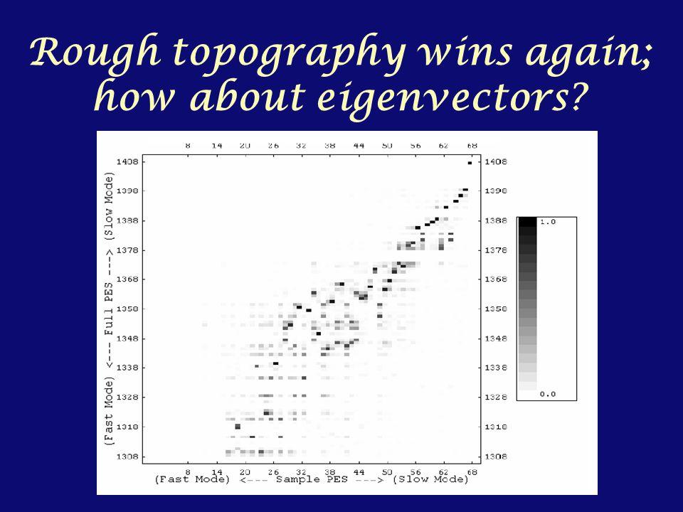 Rough topography wins again; how about eigenvectors