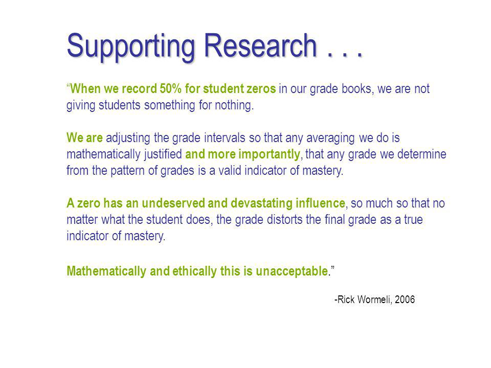 Supporting Research...