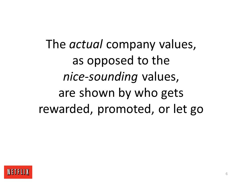 Actual company values are the behaviors and skills that are valued in fellow employees 7