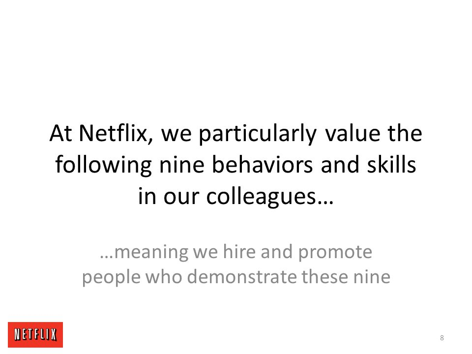 Imagine if every person at Netflix is someone you respect and learn from… 19
