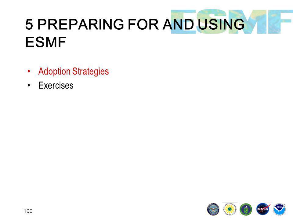 100 5 PREPARING FOR AND USING ESMF Adoption Strategies Exercises