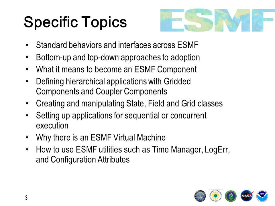 44 Design Strategy: Communication Within Components All communication in ESMF is handled within components.