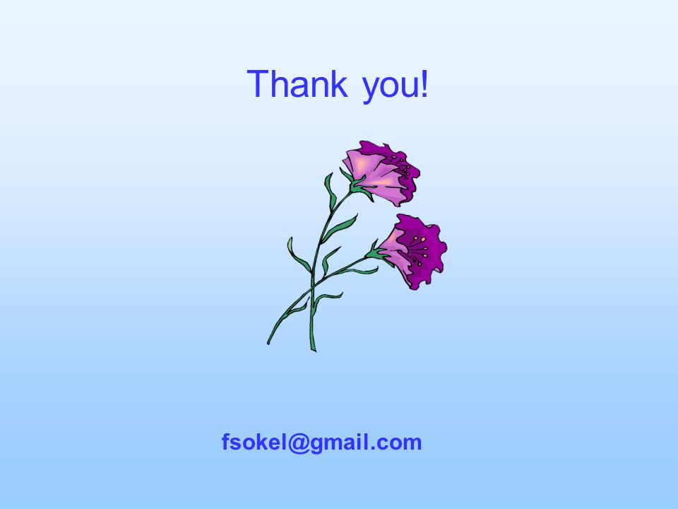Thank you! fsokel@gmail.com