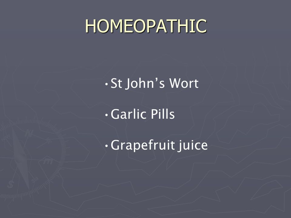 HOMEOPATHIC St John's Wort Garlic Pills Grapefruit juice