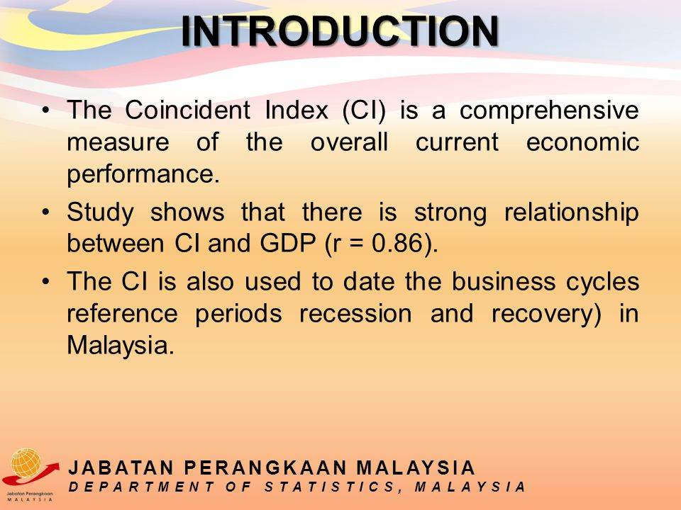 The Coincident Index (CI) is a comprehensive measure of the overall current economic performance. Study shows that there is strong relationship betwee