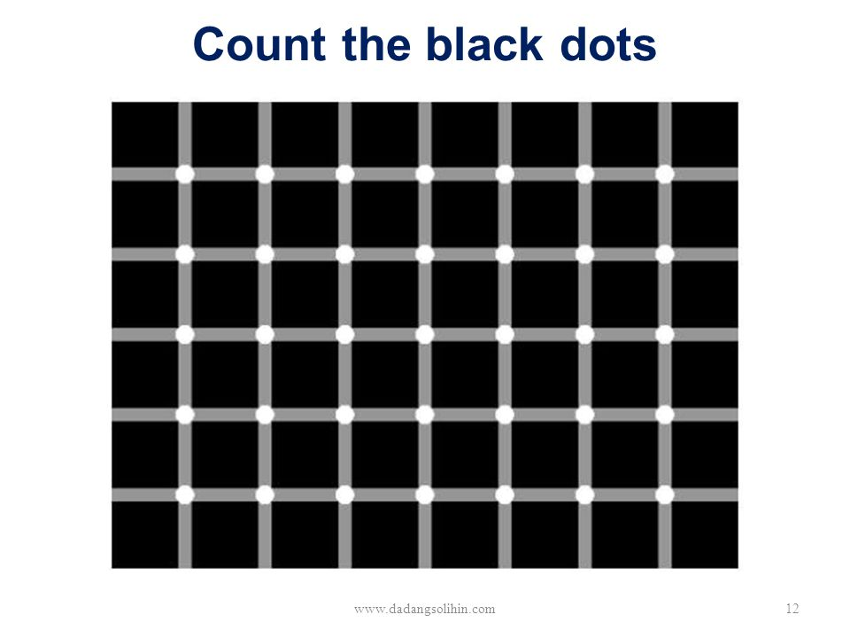 Count the black dots www.dadangsolihin.com12