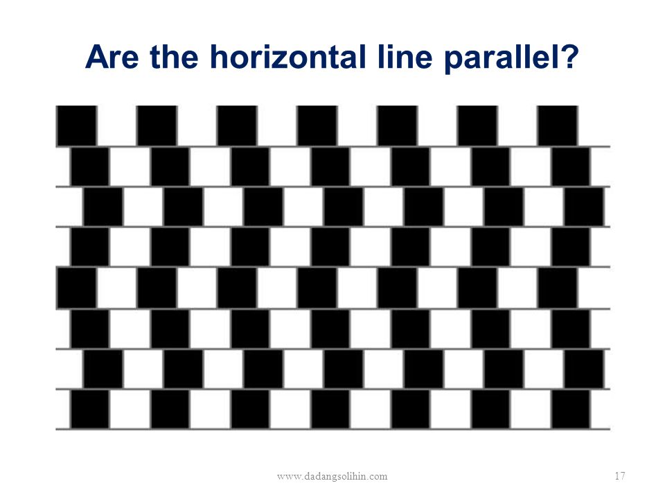 Are the horizontal line parallel? www.dadangsolihin.com17
