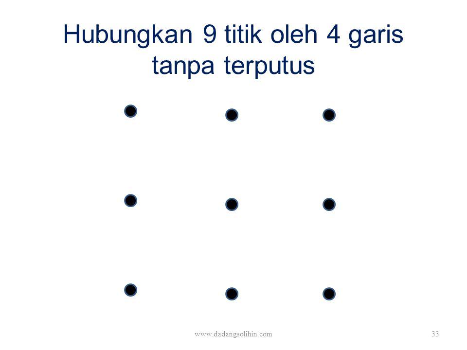 Hubungkan 9 titik oleh 4 garis tanpa terputus www.dadangsolihin.com33