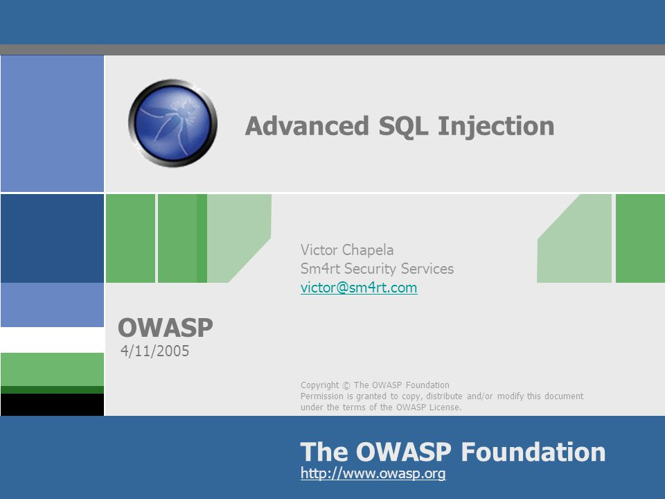 OWASP 52 Transfer DB structure and data  Once network connectivity has been tested  SQL Server can be linked back to the attacker s DB by using OPENROWSET  DB Structure is replicated  Data is transferred  It can all be done by connecting to a remote port 80!