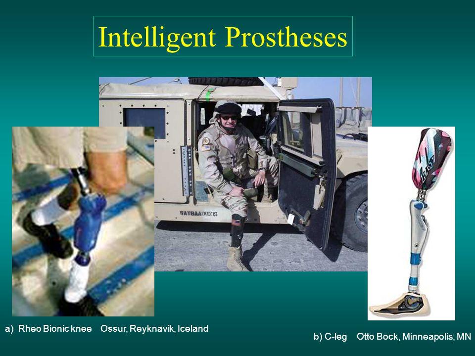 a) Rheo Bionic knee Ossur, Reyknavik, Iceland b) C-leg Otto Bock, Minneapolis, MN Intelligent Prostheses