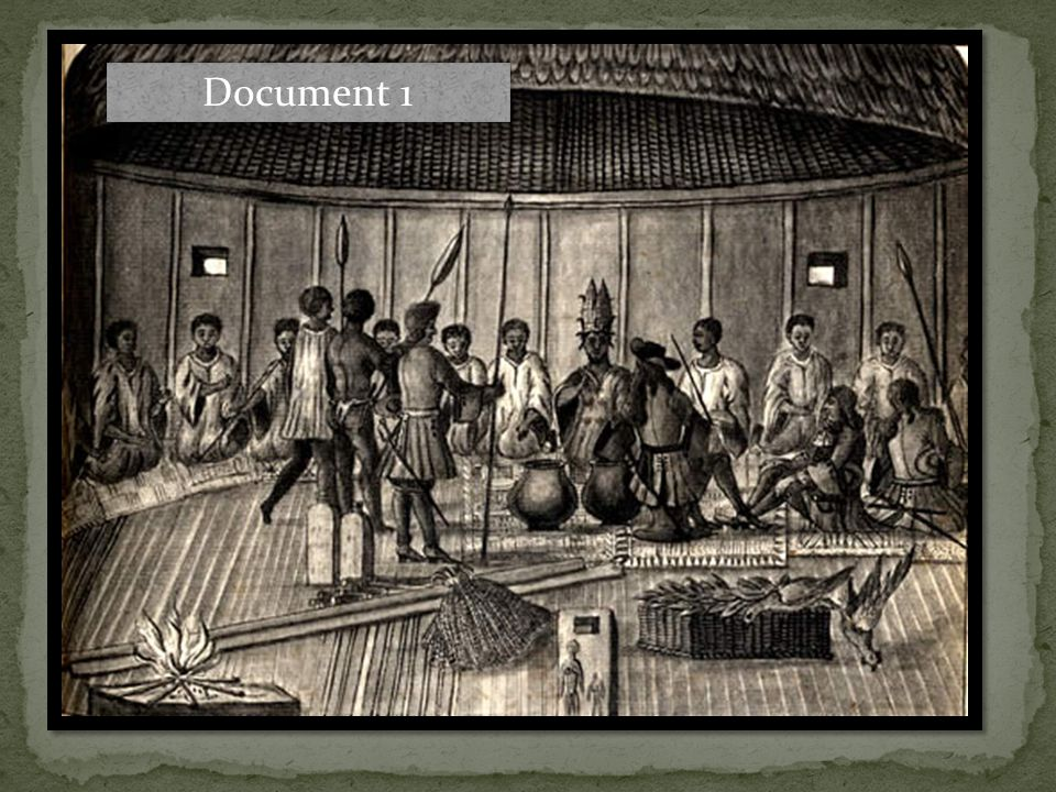 This drawing from the journals of Jean Barbot illustrates his meeting with the King of Sestro (now in modern Liberia) to trade for ivory and obtain supplies.