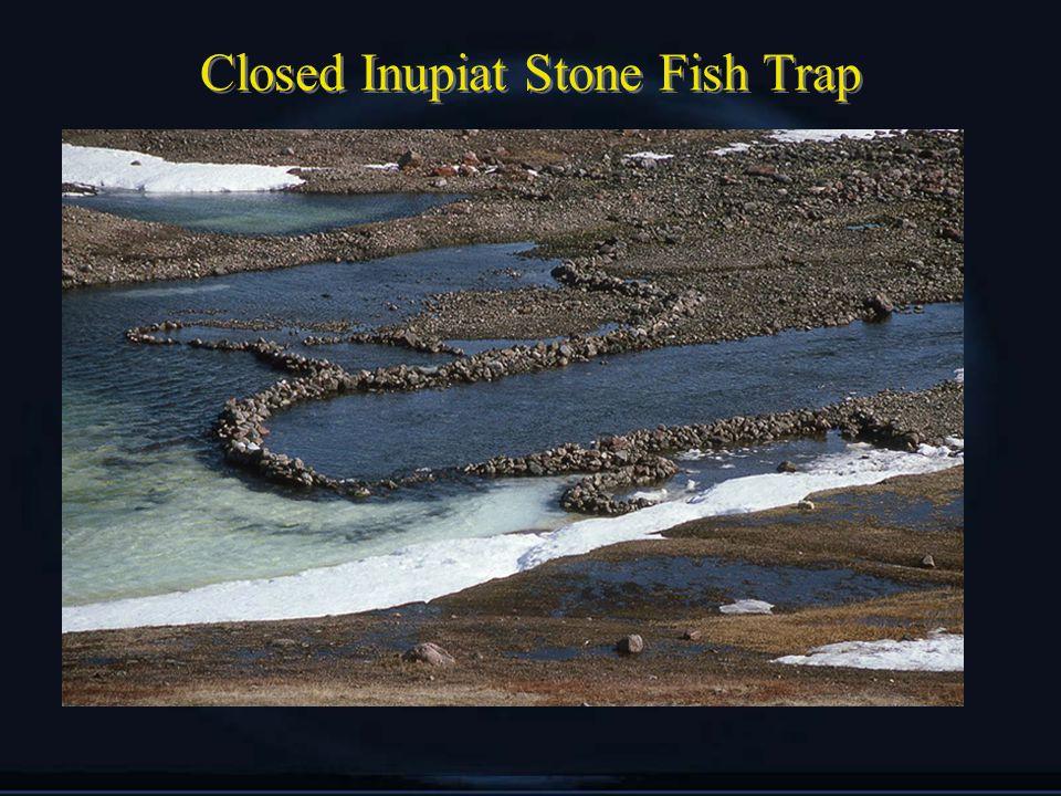 Closed Inupiat Stone Fish Trap