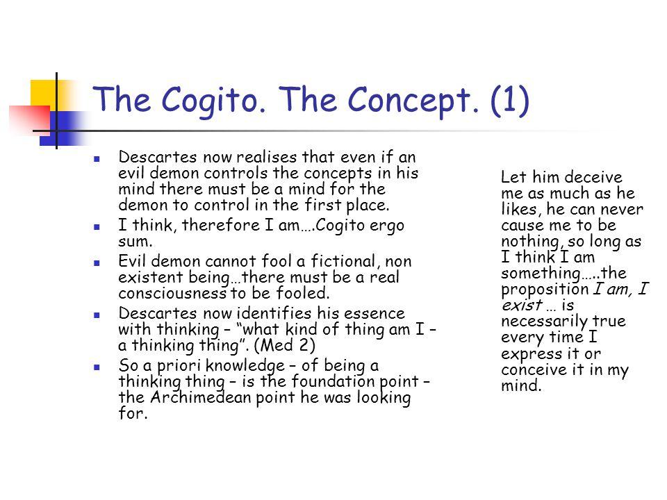 The Cogito. The Concept.