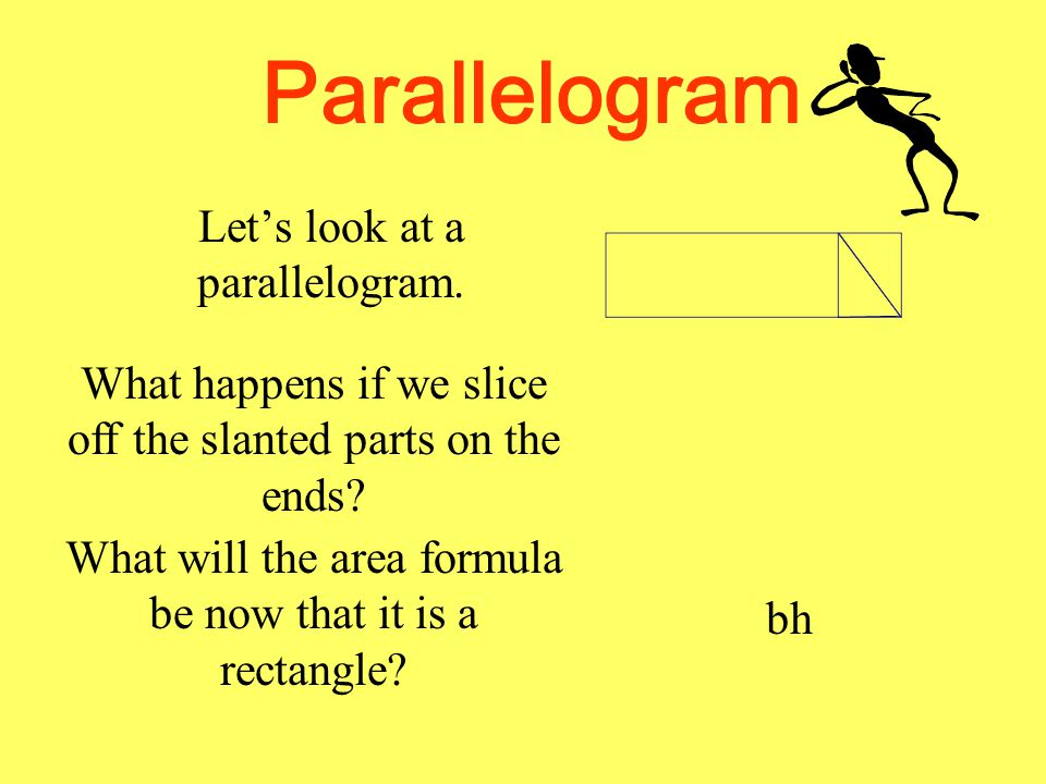 Parallelogram Let's look at a parallelogram.