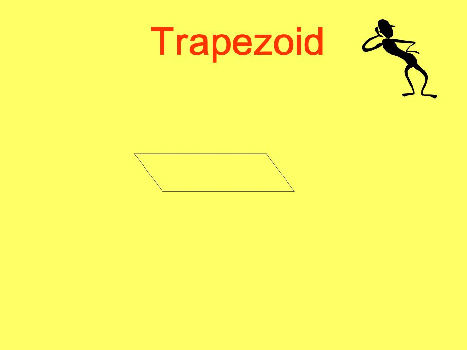 Let's try something new with the parallelogram. Earlier, you saw that you could use two trapezoids to make a parallelogram. Let's try to figure out th