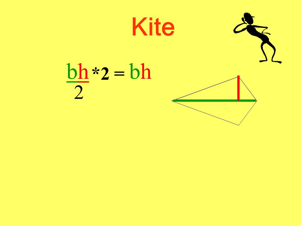 Kite Now we have to determine the formula. What is the area of a triangle formula again.