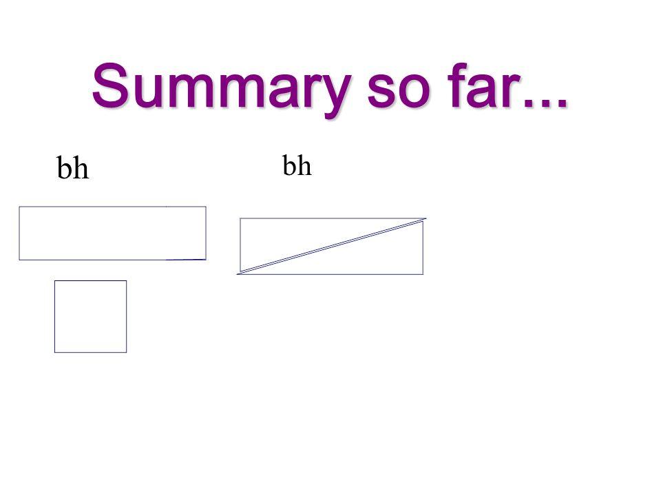 Summary so far... bh