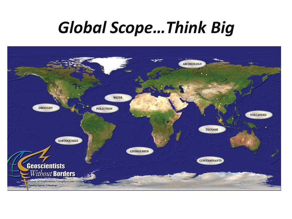 Global Scope…Think Big