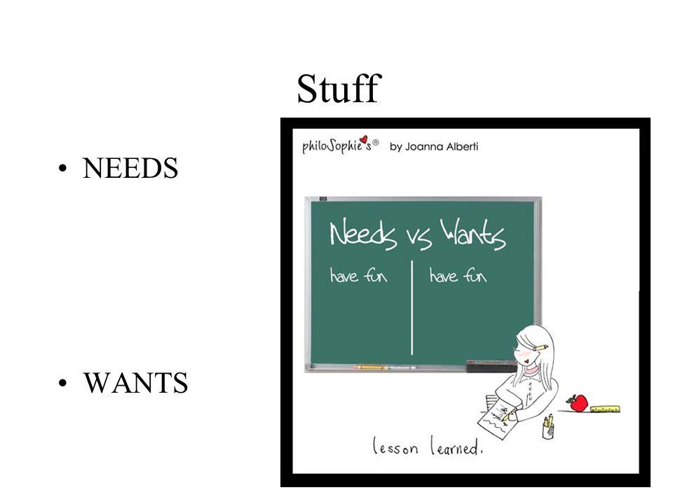 Stuff NEEDS WANTS