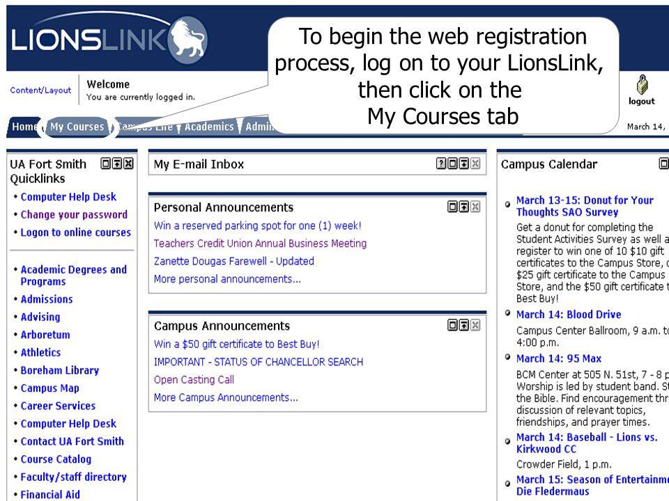 Click on Register