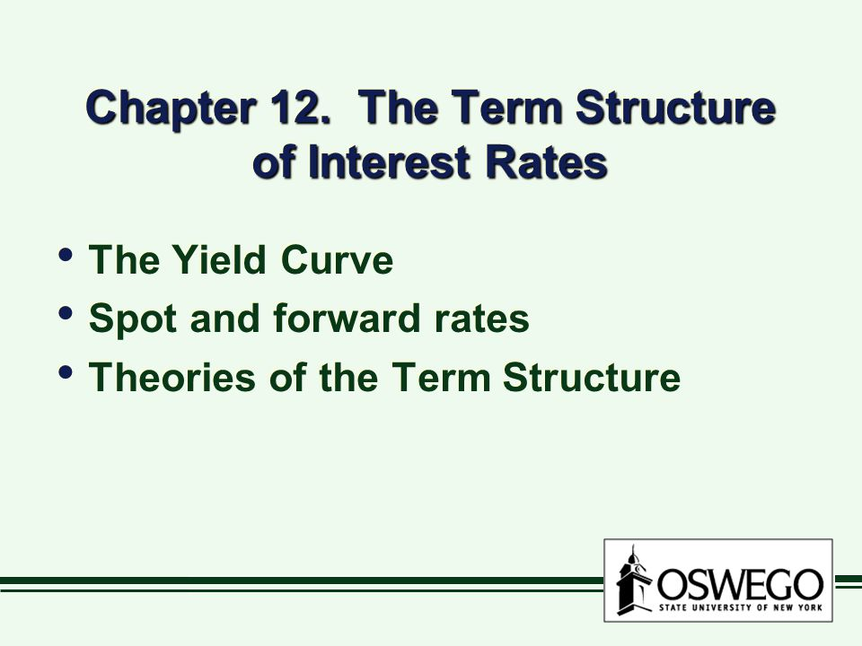 Term structure bonds with the same characteristics, but different maturities focus on Treasury yields same default risk, tax treatment similar liquidity many choices of maturity bonds with the same characteristics, but different maturities focus on Treasury yields same default risk, tax treatment similar liquidity many choices of maturity